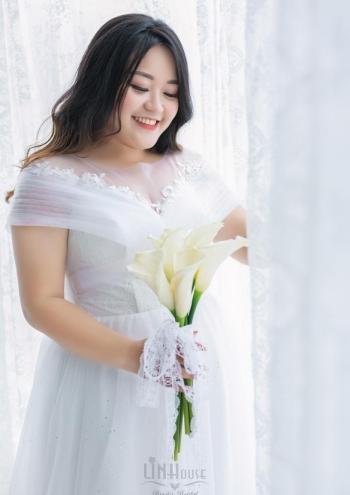 Váy Cưới Big Size Xoè Nhẹ Shine01